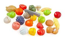 New Casdon Childrens Kitchen Cut & Play Food 44 Piece Playset Toy