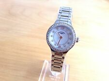NEW Rotary Ladies Stone Set Steel Bracelet Watch