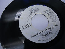 THE CLASH Should I Stay Or Should I Go/Same 45 RPM Epic Records EX promo 1982
