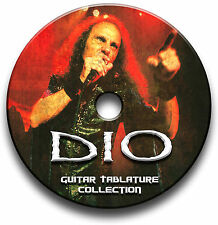 DIO ROCK HEAVY METAL GUITAR TABS TABLATURE SONG BOOK SOFTWARE CD