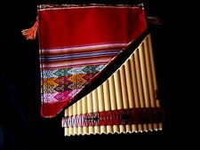 PROFESSIONAL NATIVE AMERICAN STYLE PAN FLUTE PIPES 18 BAMBOO PIPES  LISTEN  NEW