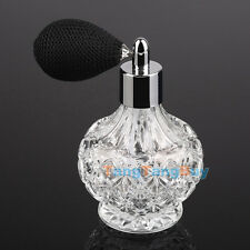 80ml Vintage Glass Clear Perfume Spray Bottle Atomizer Black Short Pump Gifts