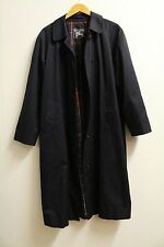 LADIES CLASSIC BURBERRY TRENCH COAT / MAC JACKET IN NAVY, SIZE LARGE,