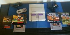 Super Nintendo System Console-Good Condition-Works Flawlessly-Authentic-CIB Game