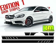 Mercedes Edition 1 Style Side stripe Decal graphics - A Class, W176, A45, AMG