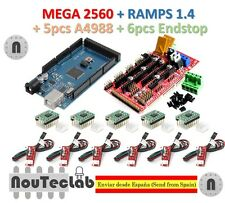 Mega 2560 R3 + RAMPS 1.4 Control Panel + 5pcs A4988 Stepper + 6pcs Endstop