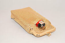 Stephanie's Luxuriant 120s ULTRA Soft Mesh Cigarette Case w/ Lighter Pocket-Gold