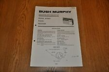 Bush / Murphy BV5653  AM / FM  radio Receiver TP1926 Vintage Service Manual