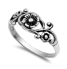 .925 Sterling Silver Ring size 10 Celtic Rose Leaf ladies Womens Kids New pp04