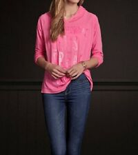 Hollister Pink L/S Hooded Shirt Women's Large L NEW Belleflower Long Sleeve