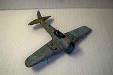 Vintage Hubley Kiddie Toys WWII Navy Grumman Hellcat Cast Metal Airplane Plane