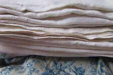 BELLA antica francese Chanvre Canottiera Homespun farina d'avena tessuto di lino c1840 #27