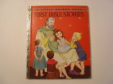 First Bible Stories, Werner, Eloise Wilkin, Little Golden Book, 1954, A Edition