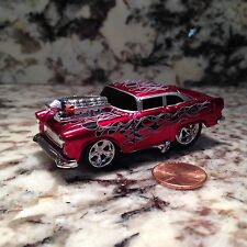 MUSCLE MACHINES 55 CHEVY DIE CAST CAR 1/64 SCALE 1955 CHEVROLET