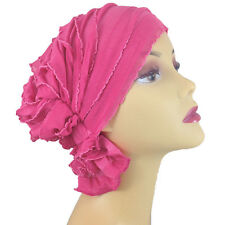 ChemoBeanies Cancer Turban Hat Pink Head Cover Carol