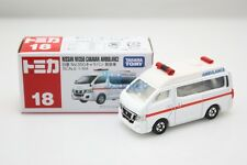 New Takara Tomy Tomica #18 Nissan NV350 Caravan Ambulance 1/69 Diecast Toy Car