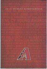 2013 Arizona Diamondbacks Baseball Media Guide