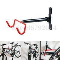 BICYCLE CYCLE STORAGE WALL MOUNTED BIKE RACK GARAGE HANGER HOOK HOLDER Black+Red