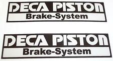 DECA PISTON Brake System motorcycle sticker pair panel swingarm printed vinyl