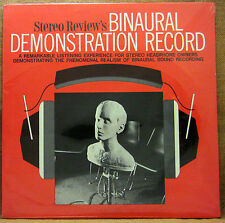 SEALED UNPLAYED STEREO REVIEW'S BINAURAL DEMONSTRATION RECORD LP HIFI HEADPHONES