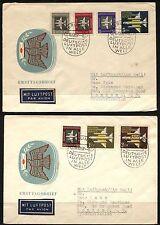 DDR DEUTSCHE LUFTPOST Germany UK GB Berlin London PAR AVION Covers 1957
