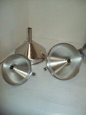 Stainless Steel Funnel Three Piece Set With Handles