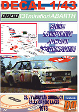 DECAL 1/43 FIAT 131 ABARTH SIMO LAMPINEN 1000 LAKES R. 1978 5th (04)