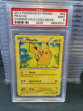Pokemon Psa 9 Pikachu Cosmos Holo Lego Movie Promo #42 Mint XY