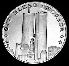 1 oz. Silver Round, Sept, 11, 2001, God Bless America, Land of the Free Lot 100