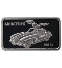 Silberbarren 1 oz Motivbarren Mercedes Mercedes 300 SL  (Feinsilber 31,1 g)