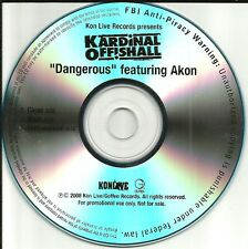 KARDINALL OFFISHALL w/ AKON Dangerous w/ CLEAN & INSTRUMENTAL PROMO DJ CD single