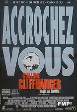 CLIFFHANGER - STALLONE / CLIMBING / MOUNTAIN -ORIGINAL SMALL FRENCH MOVIE POSTER