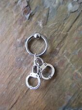 Fetish Handcuff Cartilage Piercing Captive Ring Tragus Earring 14 Gauge 1/2""