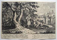 Elias und die Witwe Kupferstich von Nessenthaler nach Johann Elias Ridinger 1780