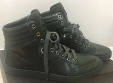 GUCCI sz US 9 High Top Mens Logo Dark Green GG Sneakers Shoes