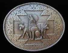 WESTERN STYLE HOWLING WOLF PACK BELT BUCKLE BUCKLES NEW