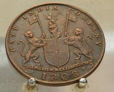 1808 India (British) Copper 10 Cash, Old Copper World Coin