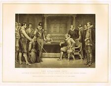 "Archer's Royal Pictures - ""THE GUNPOWDER PLOT"" Tinted Eng.- 1880"