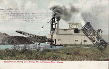 POSTCARD THREE FRIENDS MINING CO.'S DREDGE NO. SOLOMON RIVER ALASKA 1916 11-55