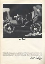 "1965 Marshall Field ""Go Dad"" Miniture Antique Car in Leather from Italy PRINT AD"