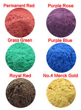 10g Natural Mica Powder Soap Candle Colorant Dye Purple Rose Grass Green Red