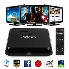 M8S XBMC Quad Core Android Smart PC TV Box MX Q wifi 5G 4K KIT KAT HD 3D Kodi
