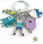 5 In 1 KeyChain #Adventure Time with Finn and Jake# KeyRing Boys Girls Gift HOT
