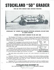 Equipment Brochure - Stockland - 50 - Grader - c1950's (E3586)