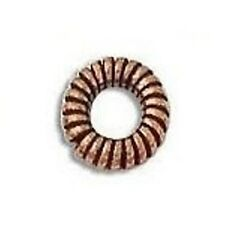 COPPER 7MM BALI STYLE OXIDIZED SPACER 45 PCS. SOLID COPPER  BBCP5296A