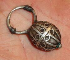Bijou Argent Ancien Tresse Cheveux Maroc Atlas Antique Moroccan Silver Hair Ring