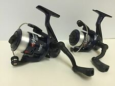 2 X NGT BLUE FISHING REELS FOR COARSE RIVER SPINNING FISHING TRAVEL REELS