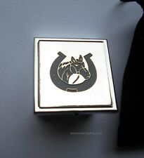 Equestrian Horsey Shoe & Head Decorated  Small  Pill Box In Nice Gift Pouch