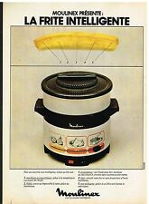 Publicité Advertising 1978 La friteuse Moulinex