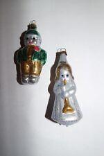 Junge und Engelskind Silber/Bunt, nostalgischer Christbaumschmuck, Lauscha